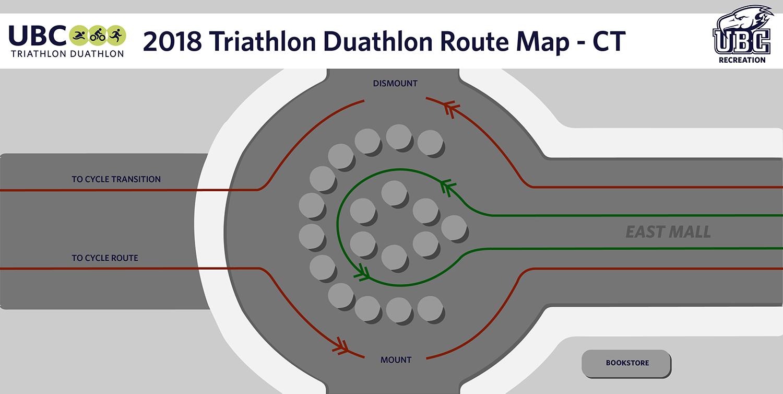 2018 Triathlon Duathlon Cycle Transition Route Map