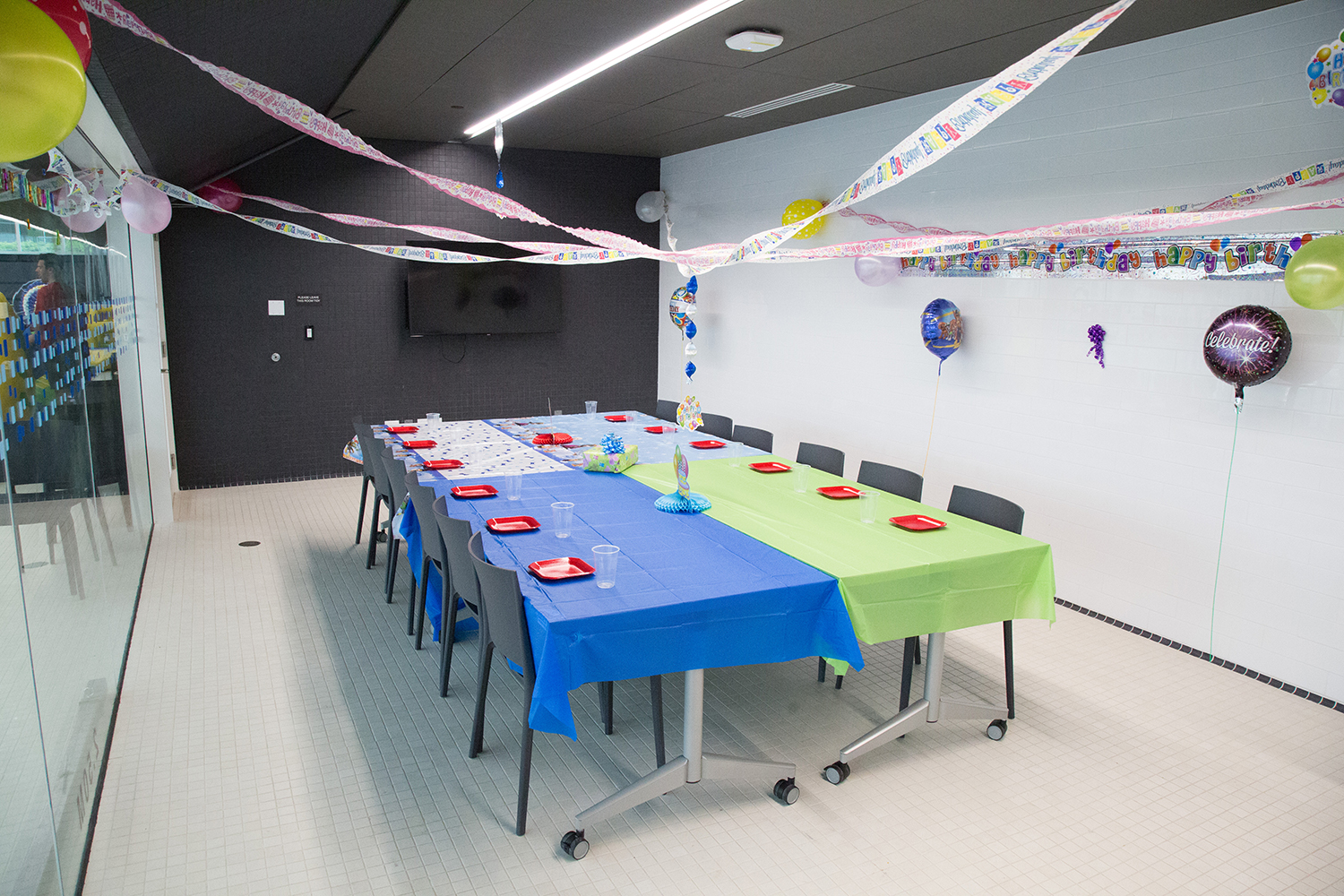 Birthday Party Room at the UBC Aquatic Centre