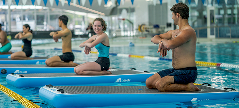 Hydro Board Fitness Class During Free Week