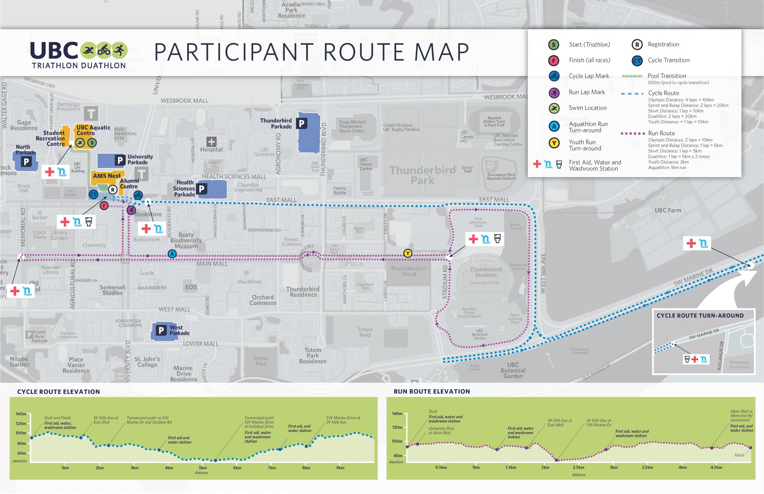 2020 Triathlon Route Map